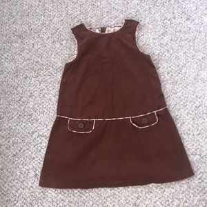 Strasburg Girls Brown Corduroy Dress